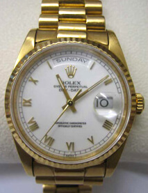18ct yellow gold Rolex Oyster
